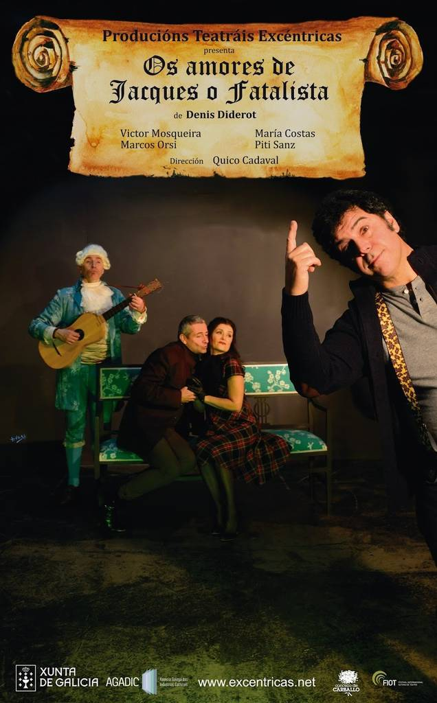 Os amores de Jacques o Fatalista, en el Lauro Olmo @ Teatro Lauro Olmo, O Barco