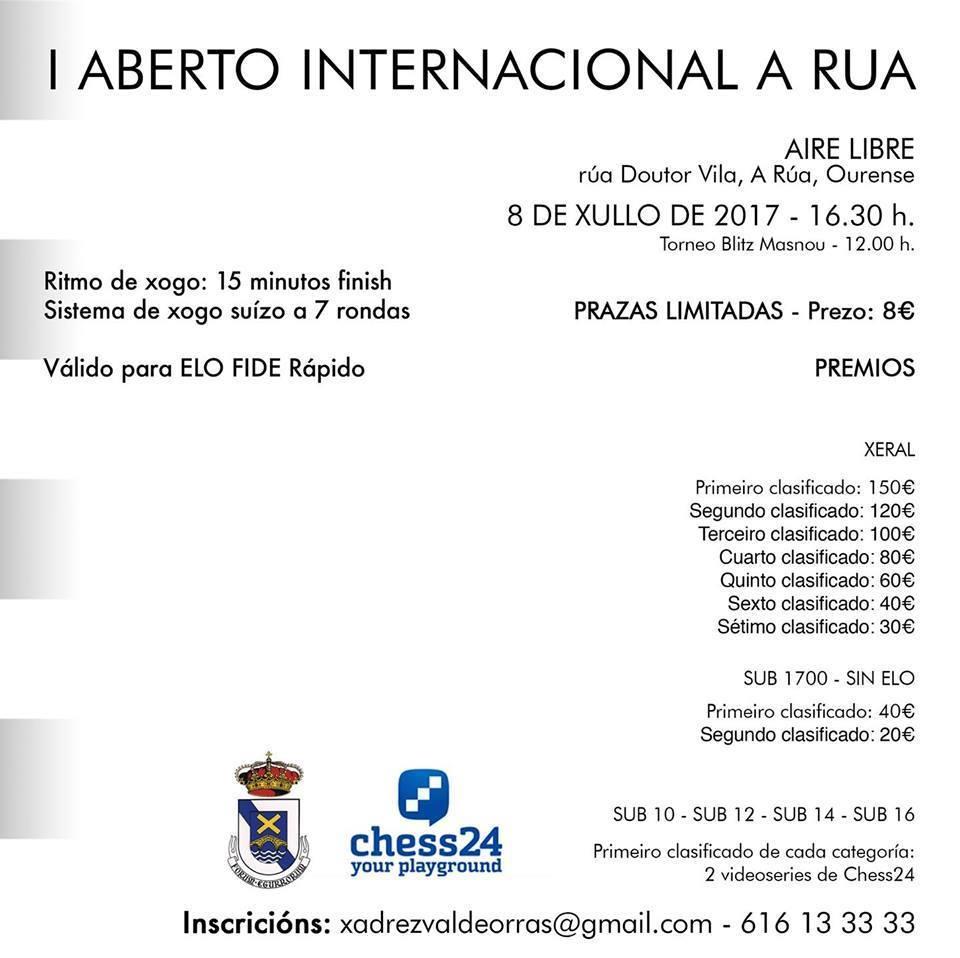 I Aberto Internacional A Rúa @ Rúa Doctor Vila, A Rúa