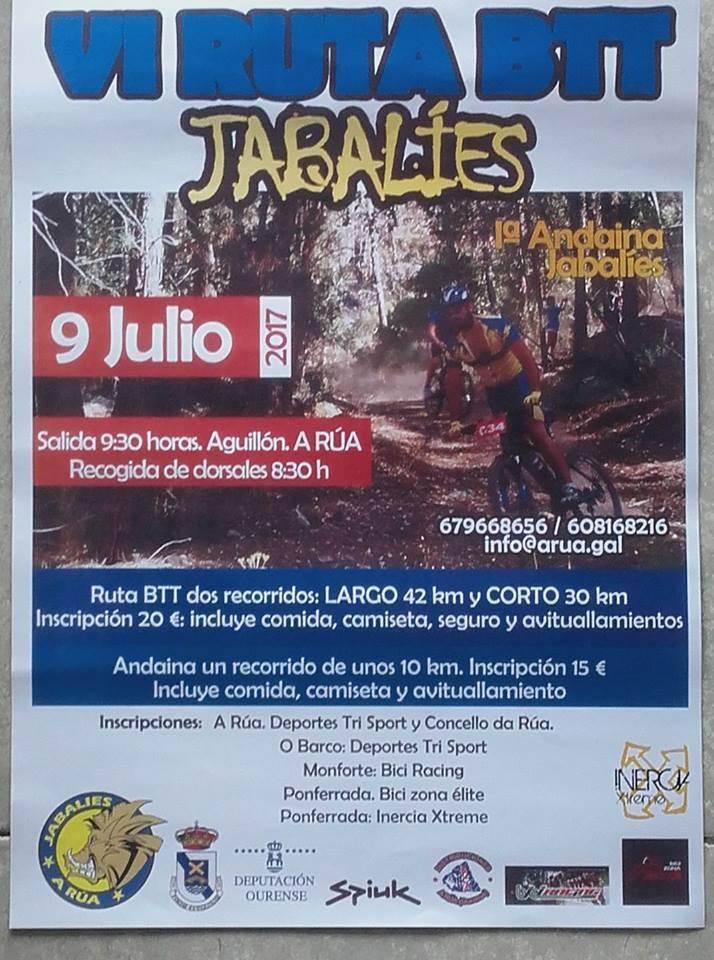 VI Ruta BTT Jabalíes @ O Aguillón. A Rúa de Valdeorras.