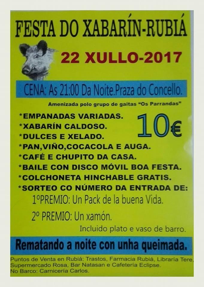 Festa do Xabarín. Rubiá @ Plaza Do Concello De Rubia