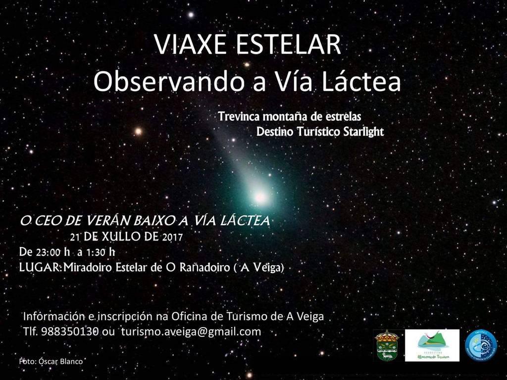 Viaxe estelar observando a Vía Láctea @ Miradoiro estelar de O Rañadoiro | Galicia | España