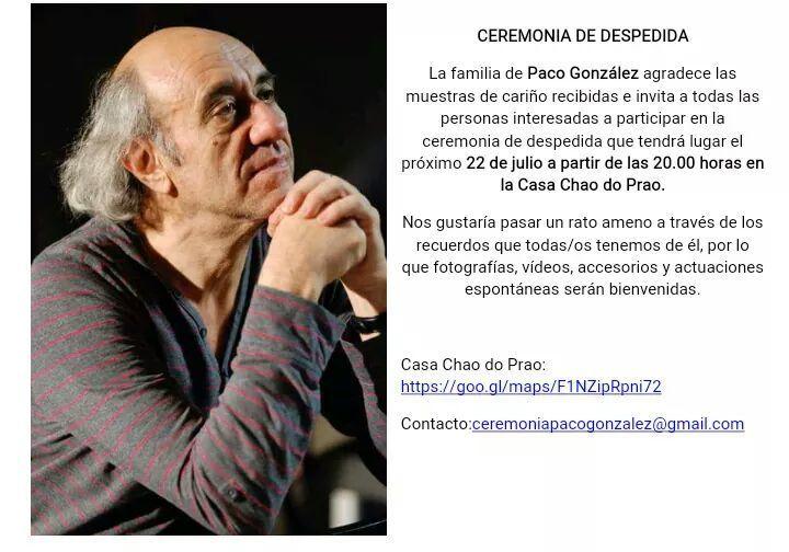 Ceremonia de despedida a Paco González @ Casa Chao do Prao | Vilar de Silva | Galicia | España