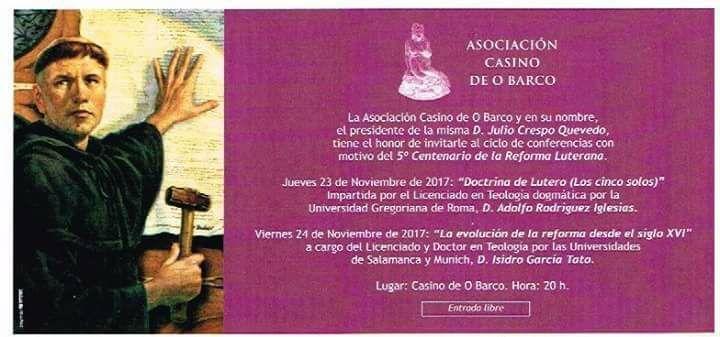 5º centenario Reforma Luterana @ Casino de O Barco