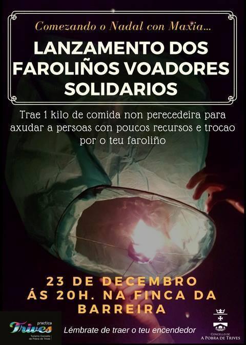 LANZAMENTO DOS FAROLIÑOS VOADORES. Trives @ Finca da Barreira, Trives