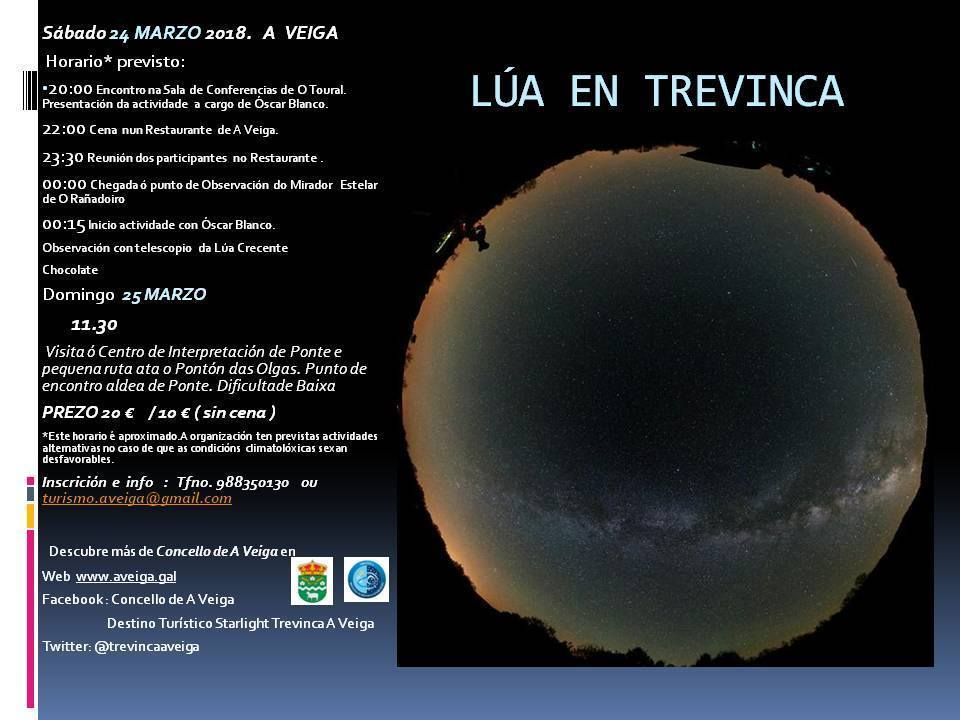 Observación de la luna y los planetas en Pena Trevinca @ Sala de conferencias O Toural (A Veiga)