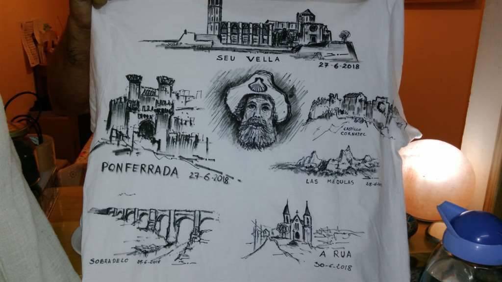 45aa2f3e5 Debuxando o Camiño de Inverno nunha camiseta