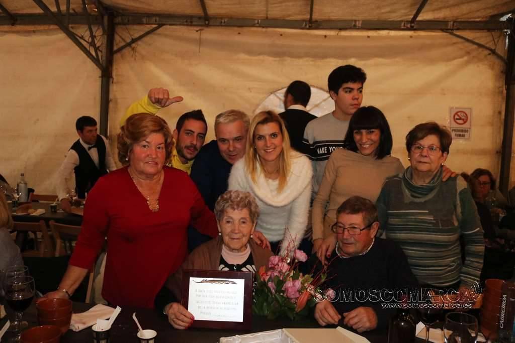 Inés Siso a punto de cumplir 100 años homenajeada en la Festa da Freba