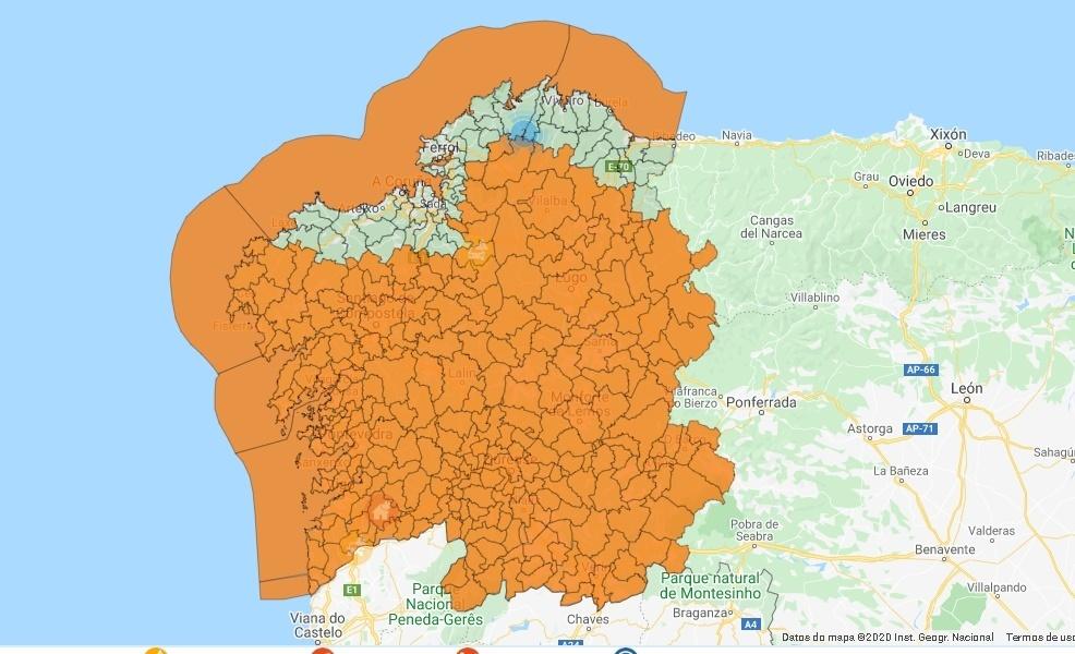 Mapa de incidencias 112 a las 13:00 horas del lunes 2 de marzo