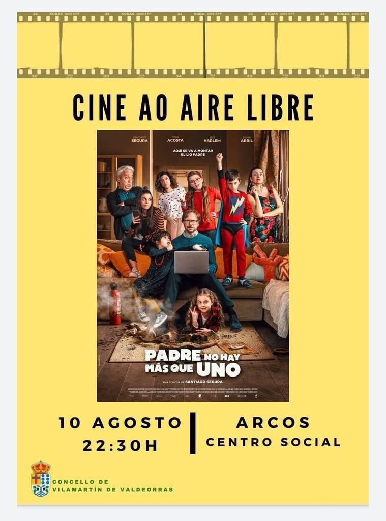 Cine al aire libre. Arcos (Vilamartín) @ Centro Social. Arcos (Vilamartín de Valdeorras)